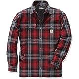 Carhartt .102333.608.S006 Shirt-Jacke Hubbard, gefüttert mit Sherpa-Fleece, Farbe:Dunkelrot, Größe:L