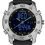 Infantry Herren Analog-Digital Uhr LCD Datum Alarm Chronograph Gummi Armband