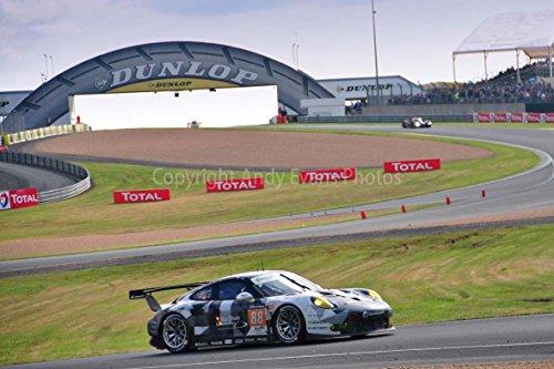 Estampado fotográfico un 18pulgadas x 12pulgadas Color paisajes fotografía de Abu dhabi-proton Racing, Racing un Porsche 911RSR no88en la carrera de 24hours de le Mans Endurance 2016fotografía en Francia por Andy Evans fotos