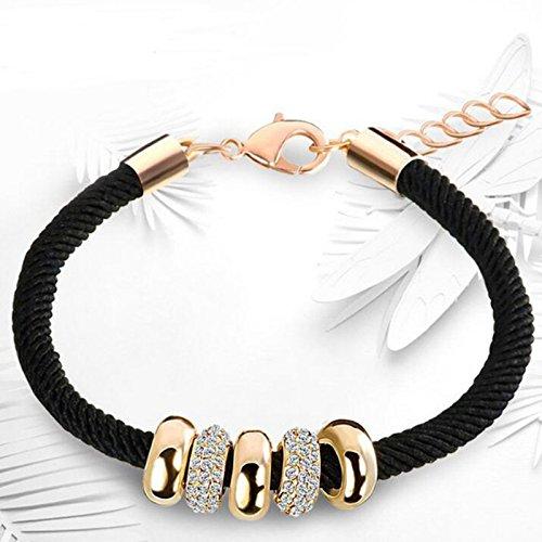 Bracelet en cuir tressé Yesiidor - Pour homme et femme