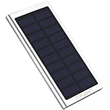Cargador solar, ultrafino, 20000mAh, USB dual, para portátil, iPhone 6S/6Plus, 5S, 5, Samsung y otros