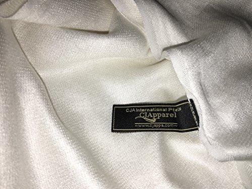 CJ Apparel Large écharpe/châle en pashmina (60 couleurs et plus) Nouveau Crème