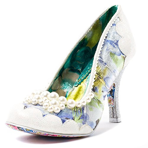 Irregular Choice Womens Pearly Girly Synthetic Shoes Bianco