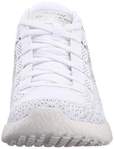 Skechers Burst, Baskets Basses Femme Blanc (Wsl Blanc/Argent)