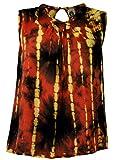 Guru-Shop Batik Boho Blusentop, Damen, Rostrot, Viskose, Size:M/L (38), Blusen & Tunikas Alternative Bekleidung