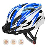 #10: Strauss Cycling Helmet, (White/Blue)