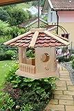 Vogelhaus-Vogelhäuser-(V74)-sechs eck Braun