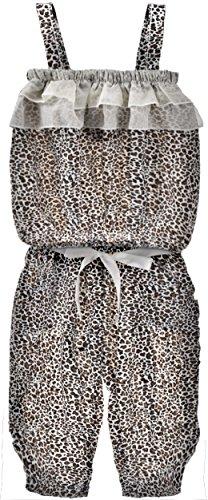 ZOEREA 2pcs Mädchen Kinder Hose +Sling lose Oberteile Ausrüstung trägerloses Sommersätze Kindklage Baumwolle dünne Seidenbänder Leopard Muster
