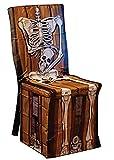 Dildoridoo - Halloween Dekoration Skelett Vintage Stuhl Cover Party, 1 Stück, 81x109, Mehrfarbig