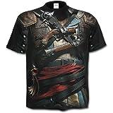 Spiral Herren T-Shirt Schwarz Schwarz Gr