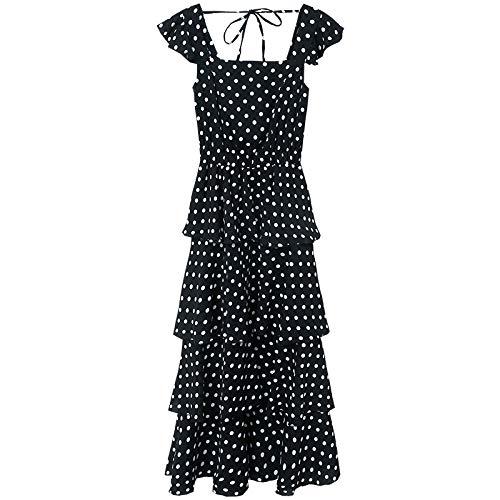 iffon Polka Dot Dress Fashion Pop Summer Women's Cake Dress ()