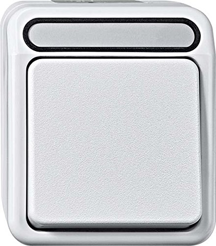 Preisvergleich Produktbild Merten Aus/Wechselschalter, 1-polig, Aquastar, polarweiß, MEG3116-8019