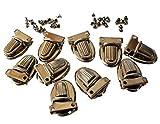 10Sets Geldbörse Zunge Verschlüsse, Nickel mit Press Lock Daumen fängt für Geldbeutel, Handtaschen, Kupplungen, Taschen und Sie erhalten 42Nieten für Befestigung