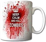 Keep Calm And Kill Zombies Mug Cup Gift Retro