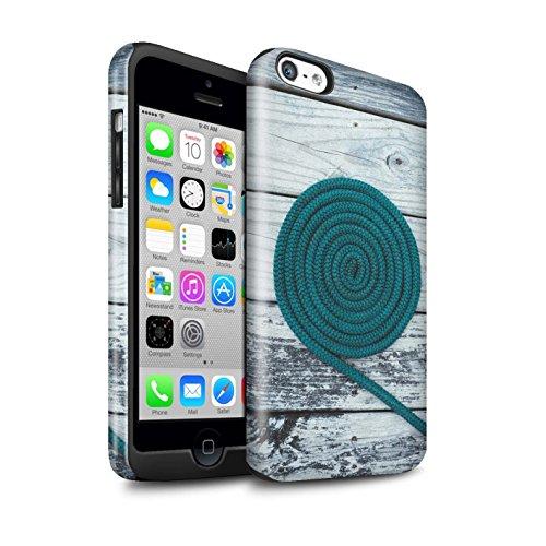 STUFF4 Glanz Harten Stoßfest Hülle / Case für Apple iPhone 5C / Ziegel/Stein/Mauer Muster / Teal Mode Kollektion Seil/Holz/Deck