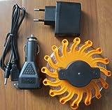 Warnleuchte-LED, Warnblinkleuchte Blinklicht Warnsignal mit Magnet &16 LED, für Auto Notfall Pannenhilfe (gelb) …