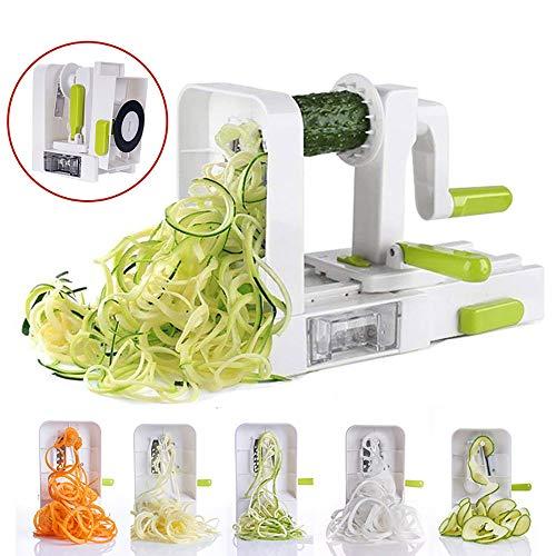 MUYIER Spiralizer, Gemüse Spiralizer Slicer Mit Abnehmbaren