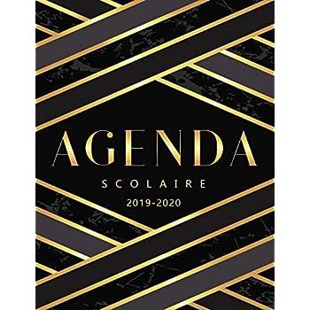 Agenda Scolaire 2019 - 2020: Agenda Semainier et Planificateur de pour l'année Scolaire 2019 - 2020
