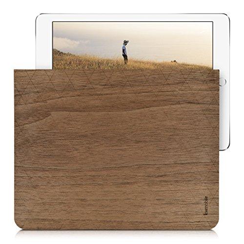 kwmobile Filz Tasche mit Holz für Tablet 10
