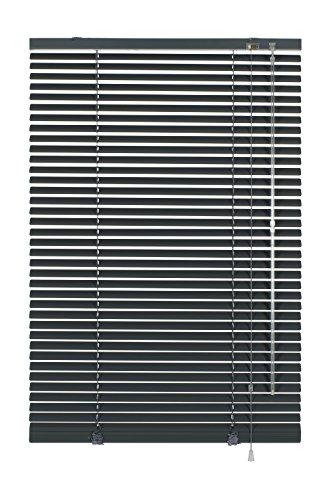 GARDINIA Alu-Jalousie, Sicht-, Licht- und Blendschutz, Wand- und Deckenmontage, Alle Montage-Teile inklusive, Aluminium-Jalousie, Schiefergrau, 90 x 175 cm (BxH)