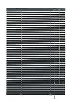 GARDINIA Store Vénitien en Aluminium, Fixation au Mur et au Plafond, Kit de Montage Inclus, Store Vénitien Aluminium, Gris ardoise, 120 x 175 cm (LxH)