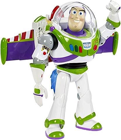 Disney Toy Story – Rocket Blast Buzz l'Eclair – Figurine Parlant Anglais