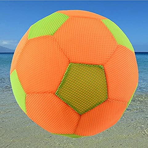 XL Wasserball Strandball Ball Beachball - ca. 50 cm Durchmesser orange / grün Softball