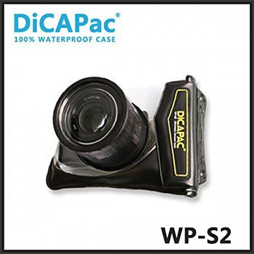 DicaPac Wasserdicht mirrorless Kameragehäuse WP s2 66mm UV-Beschichtet Umhängeband