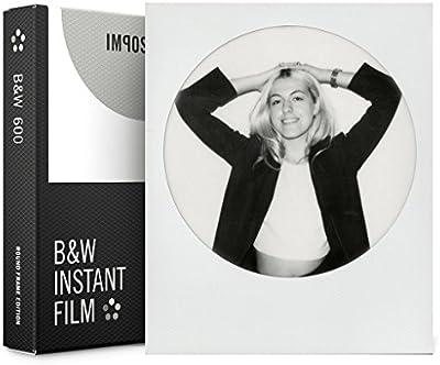 Impossible 4525schwarzweiß película instantánea para cámaras Polaroid 6008fotografías con marco redondo