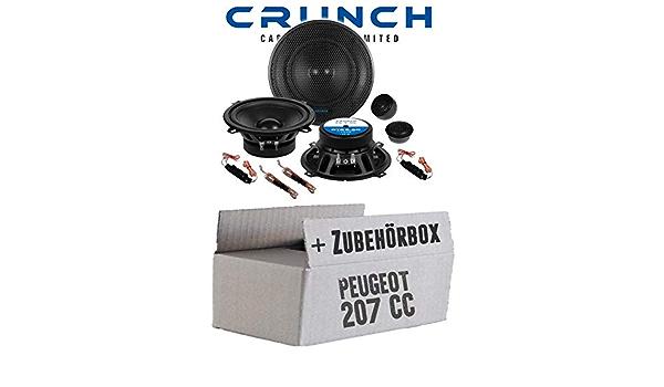 Lautsprecher Boxen Crunch Gts5 2c 13cm 2 Wege System Gts 5 2c Auto Einbauzubehör Einbauset Für Peugeot 207 Cc Just Sound Best Choice For Caraudio Navigation