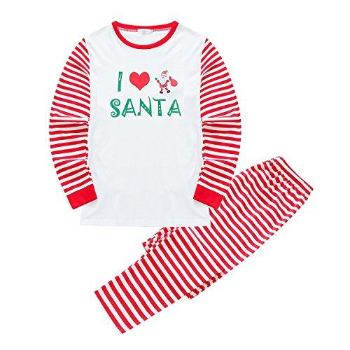 51cbafacbb Loveble Pigiama Natale padre-figlio Set Famiglia corrispondenza papà mamma  Bambini neonato pagliaccetto pantaloni Top ...