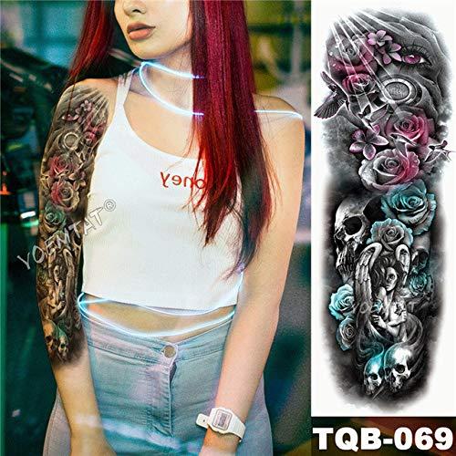 tzxdbh 3Pcs-Permanent Tattoo Sticker Beach Arm Sticker Zurück Sticker Sticker 3Pcs- -