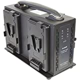 Axcom SM-CPVM-4 - 4 Slot V-Mount Charger with DC Out for V-Mount Batteries