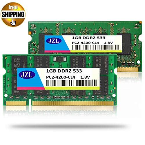 HAMISS Laptop Memory Ram SODIMM PC2-4200 DDR2 533MHz 200PIN 1GB / PC2 4200 DDR 2 533 MHz 200 PIN 1.8V CL4 Notebook Computer SDRAM -
