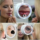 Kawachi Magnifying Glass Travel Makeup Mirror LED Lights Swivel Brite Cosmetic Tool Bath mirror portable mirror