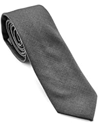 PenSee Men's Solid Skinny Necktie Polyester Cotton Classic Slim Tie-Various Colors
