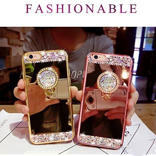 iPhone 8 Plus Hülle, iPhone 7 Plus Handyhülle, iPhone 8 Plus / iPhone 7 Plus Mirror Hülle Spiegel Case, Sunroyal Luxury Cover mit Ring Fingerhalterung Ring Ständer Ring Holder TPU Schutzhülle iPhone 8 Pattern 2