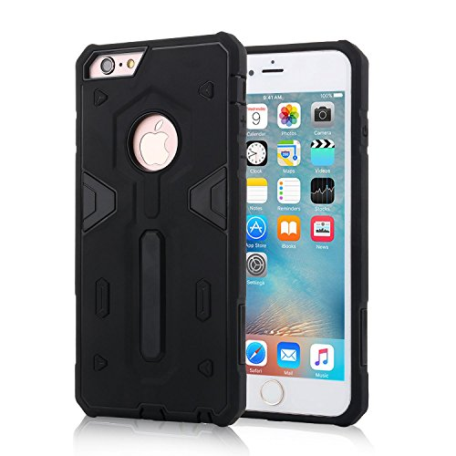 """HYAIT® For IPHONE 6 4.7"""" [CONTRAST TRIANGLE]Case Dual Layer Hybrid Armor Rugged Plastic Hard Shell Flexible TPU Bumper Protective Cover-SJAE04 BHE01"""