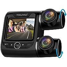 TOGUARD Cámara de Coche Dobles Dashcam 1080P+1080P Full HD 340°Ángulo Cámara para