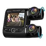 TOGUARD Dual Dashcam Full HD 1080P Autokamera Video Recorder mit 340° Weitwinkelobjektiv, 2 Zoll LCD-Bildschirm, WDR, B
