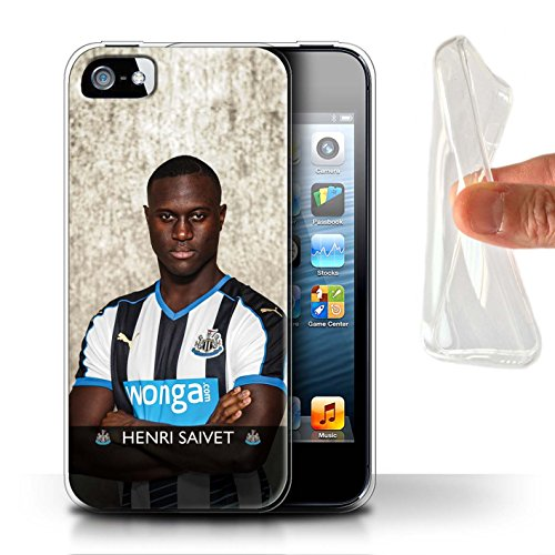 Officiel Newcastle United FC Coque / Etui Gel TPU pour Apple iPhone 5/5S / Pack 25pcs Design / NUFC Joueur Football 15/16 Collection Saivet
