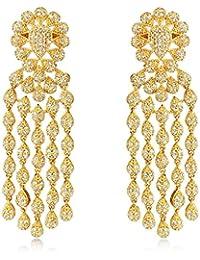 Shaze Golden Rapunzel Brass Earrings for Women