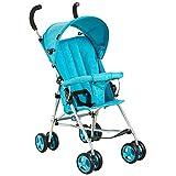 QXMEI Kinderwagen Buggy Kompakter Leichter Buggy mit Sonnenverdeck aus Pflegeleichtem Material,Blue