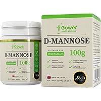 D-Mannose - 100 g reines Pulver | OHNE ZUSÄTZE | Gegen Blasen- & Harnwegsentzündungen | Verpackt in ISO-zertifizierten Betrieben in Großbritannien - 100 % Geld-zurück-Garantie