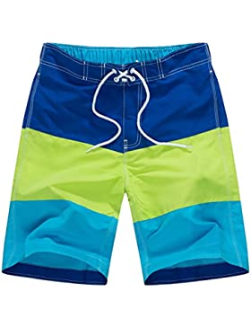 WDDGPZ Pantalones Cortos De Playa/Estilo De Verano Hombres Beach Shorts Cómodos Pantalones Cortos Macho M-XXL,...