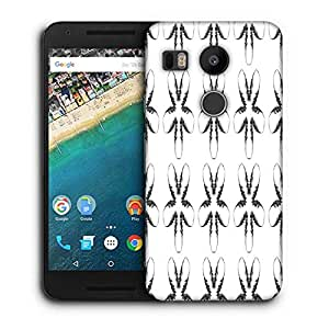 Snoogg Fingers Pattern Printed Protective Phone Back Case Cover For LG Google Nexus 5X