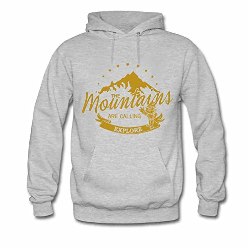 Womens Hooded Sweatshirt Mountains are Calling Explore Cotton Hoodie XL