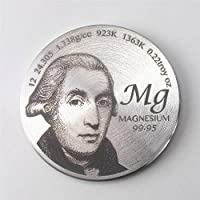 Zahlen Tribute to Entdeckung der Magnesium 3,8cm Durchmesser Pure MG Metall Medaille