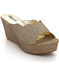 8b2d3ba4 Mujer Señoras Diamante Noche Fiesta Paseo Boda Nupcial Cristal Ponerse Cuña  Tacón Sandalias Zapatos Tamaño