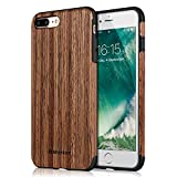 Mthinkor Coque iPhone 8 Plus Coque iPhone 7 Plus Motif Bois Anti-frottement...